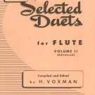 Vintage Selected Duets For Flute Volume II Advanced Rubank Inc. Library Number 178