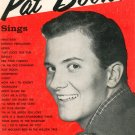 Vintage Pat Boone Sings Music Book Robbins Music Corporation 1957