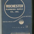 Rochester Plumbing Supply Co. Inc Catalog 54 Vintage 1954