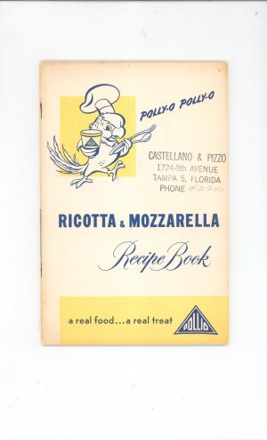 Polly O Ricotta & Mozzarella Recipe Book Cookbook Vintage 1950 PollyO Polly-O