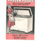 Vintage Frozen Foods Guide How To Prepare Package Freeze Cook General Electric