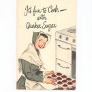 It's Fun To Cook With Quaker Sugar Cookbook Vintage