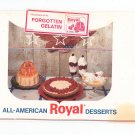 Vintage All American Royal Desserts Cookbook Forgotten Gelatin 1968
