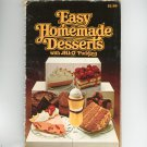 Easy Homemade Desserts With Jell-O Pudding Cookbook First Edition Vintage 1979 Jell O JellO
