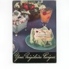 Your Frigidaire Recipes Cookbook Vintage 1940