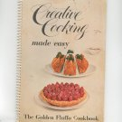 The Golden Fluffo Cookbook Creative Cooking Made Easy Vintage 1956