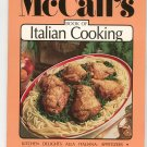 McCall's Book Of Italian Cooking Cookbook Volume 9