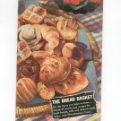 Vintage The Bread Basket Cookbook Fleischmann's Yeast 1942 With Inserts