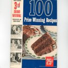 Pillsbury's 3rd Grand National 100 Prize Winning Recipes Cookbook First Edition Vintage 1952