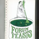 Forum Feasts Cookbook Regional Forum School New Jersey 0960677801