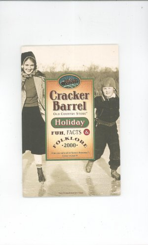 Cracker Barrel Holiday Folklore 2000 Catalog