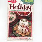 Betty Crocker Holiday Recipes Menus Ideas Cookbook #123 1996