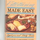Entertaining Made Easy Cookbook Home Economics Teachers 0871971690