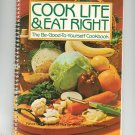Cooking Lite & Eat Right Cookbook Home Economics Teachers