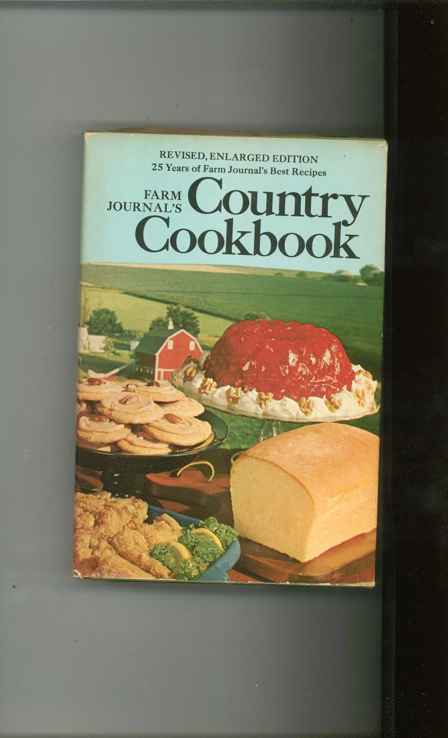 Country Cookbook Cover : Farm journal s country cookbook vintage hard cover