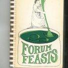 Forum Feasts Cookbook Regional Forum School New Jersey Vintage 1968 1981