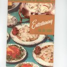 Entertaining Six Or Eight Cookbook Vintage Culinary Arts 115 0832605220