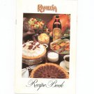 Kahlua Recipe Book Cookbook
