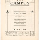 Vintage The Campus Newsletter University Of Rochester Volume XXXI Number 13 May 1906