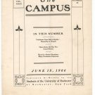 Vintage The Campus Newsletter University Of Rochester Volume XXXI Number 15 June 1906