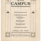 Vintage The Campus Newsletter University Of Rochester Volume XXXI Number 12 April 1906