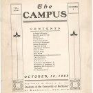 Vintage The Campus Newsletter University Of Rochester Volume XXXI Number 1 October 1905