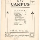Vintage The Campus Newsletter University Of Rochester Volume XXIX Number 9 February 1904