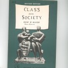 Vintage Class And Society By Kurt B. Mayer Revised Edition 1955 1964