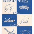 Vintage Beginners Manual 3rd Edition Revised Star Book #62 Knitting Tatting Crocheting
