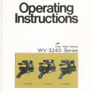 Panasonic Color Video Camera WV-3240 Series Operating Instructions Manual
