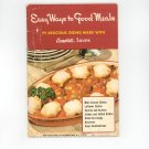 Easy Ways To Good Meals Cookbook By Campbell's Soups Vintage