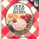 Quick & Easy Recipes Cookbook Better Homes and Gardens & Kraft 1988