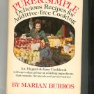 Pure & Simple Cookbook By Marian Burros Signed Copy Hard Cover 0688032850