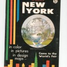 Vintage Nester's New York Travel Guide / Brochure 1965 A Great City Illustrated