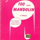 Smith's 100 Solos Mandolin Or Violin Music Book Vintage