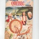 La Province De Quebec Canada Travel Guide Vintage