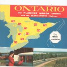 Vintage Ontario 22 Planned Motor Tours Guide Trans Canada Highway