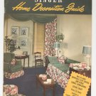 Vintage Singer Home Decoration Guide Draperies Slip Covers Plus 1947