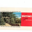 Vintage Waitomo Caves New Zealand Souvenir Booklet  Glow Worm Cave 1973