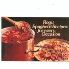 Vintage Ragu Spaghetti Recipes For Every Occasion Cookbook 1979