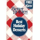 Better Homes And Gardens Best Holiday Desserts Cookbook 1984
