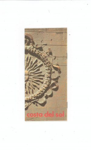 Costa Del Sol Spain Travel Brochure With Map