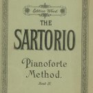 The Sartorio Pianoforte Method Book III Music Book Edition Wood Number 102