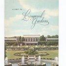 A Visit To Longwood Gardens Souvenir Guide Vintage