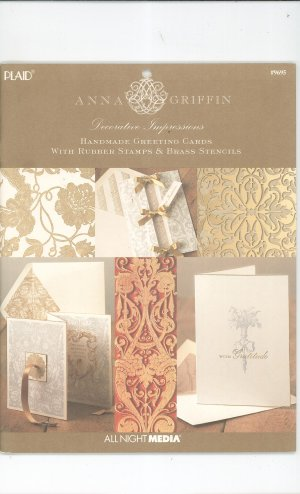 Decorative Impressions Handmade Greeting Cards With Rubber Stamps & Brass Stencils 1558950559