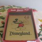 Disneyland Desk Memo Pad Souvenir Mickey Mouse With Original Box