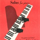 Your Very First Favorite Solos For Piano Music Book Vintage