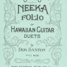 Santos Neeka Folio Of Hawaiian Guitar Duets by Don Santos Vintage