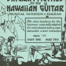 Santos Diagram Method For Hawaiian Guitar Musical Notation & Diagram Part Two Vintage