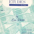 60 Etudes For Piano Volume 1 by Eric Steiner Vintage Belwin
